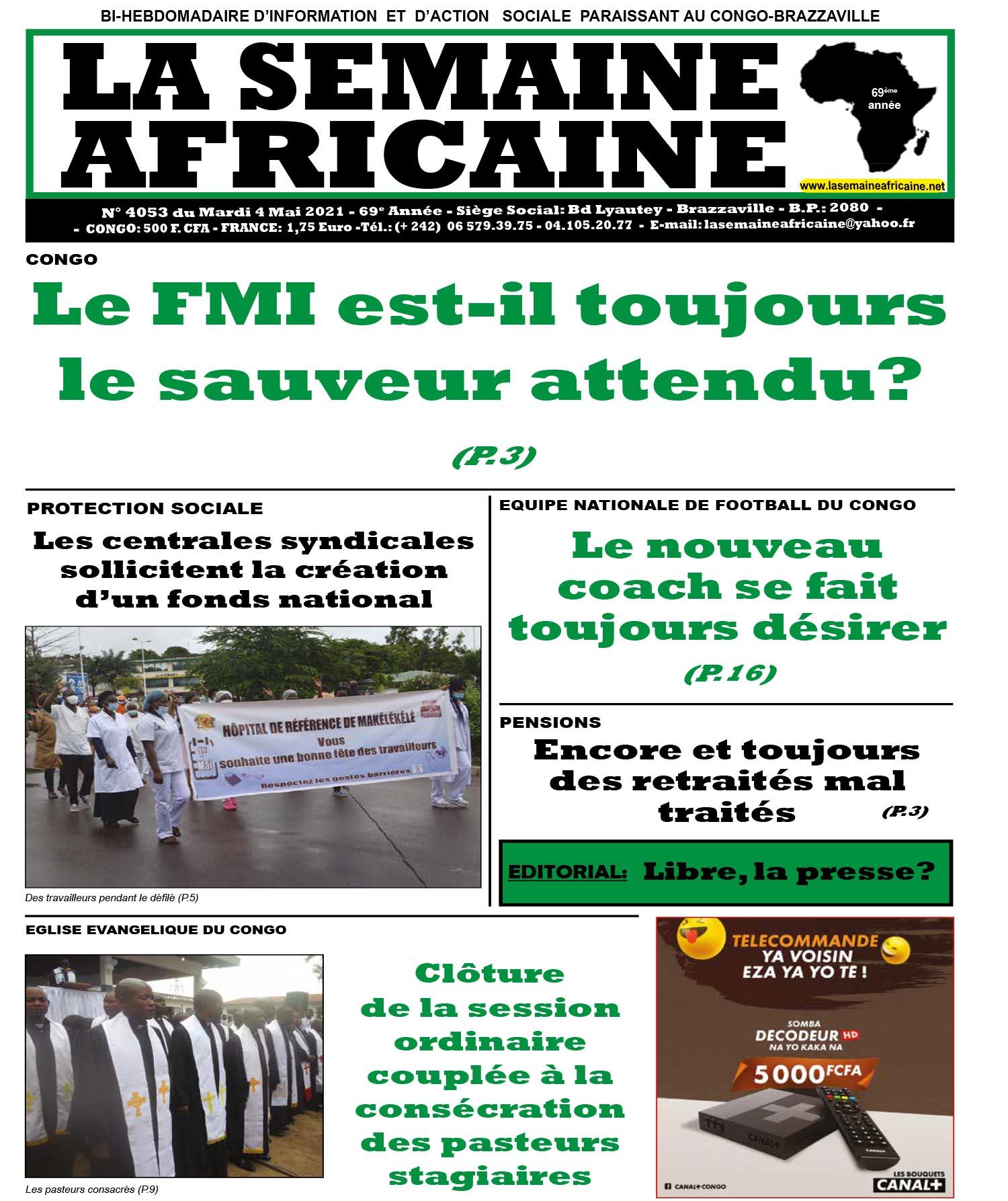 Cover La Semaine Africaine - 4053