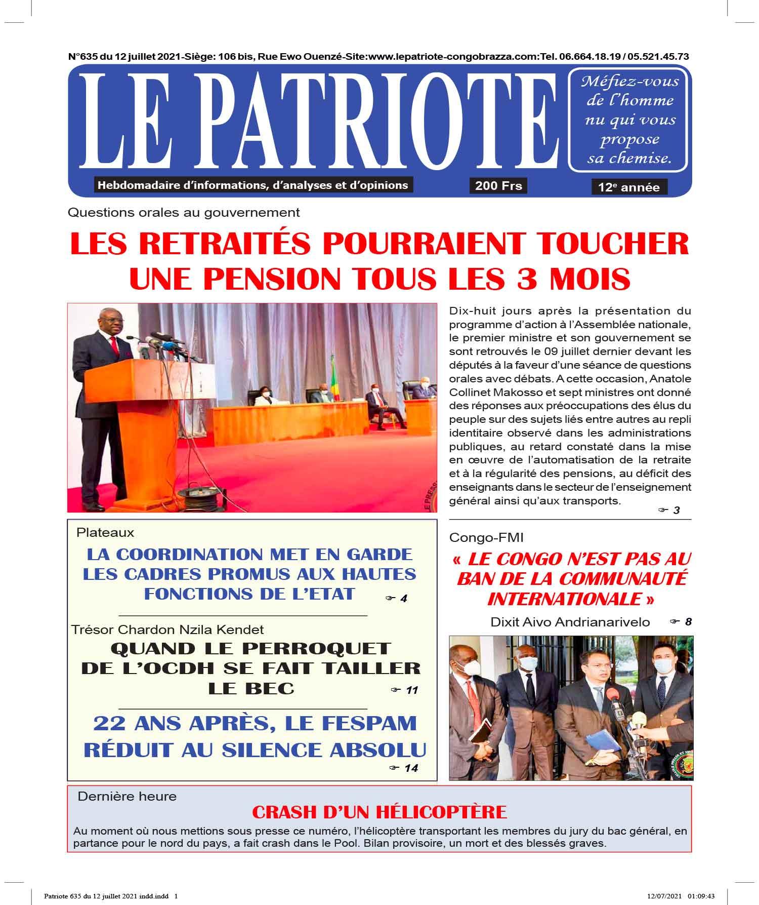 Cover Le Patriote - 635