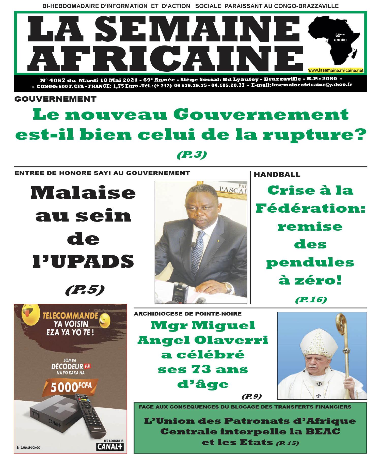 Cover La Semaine Africaine - 4057