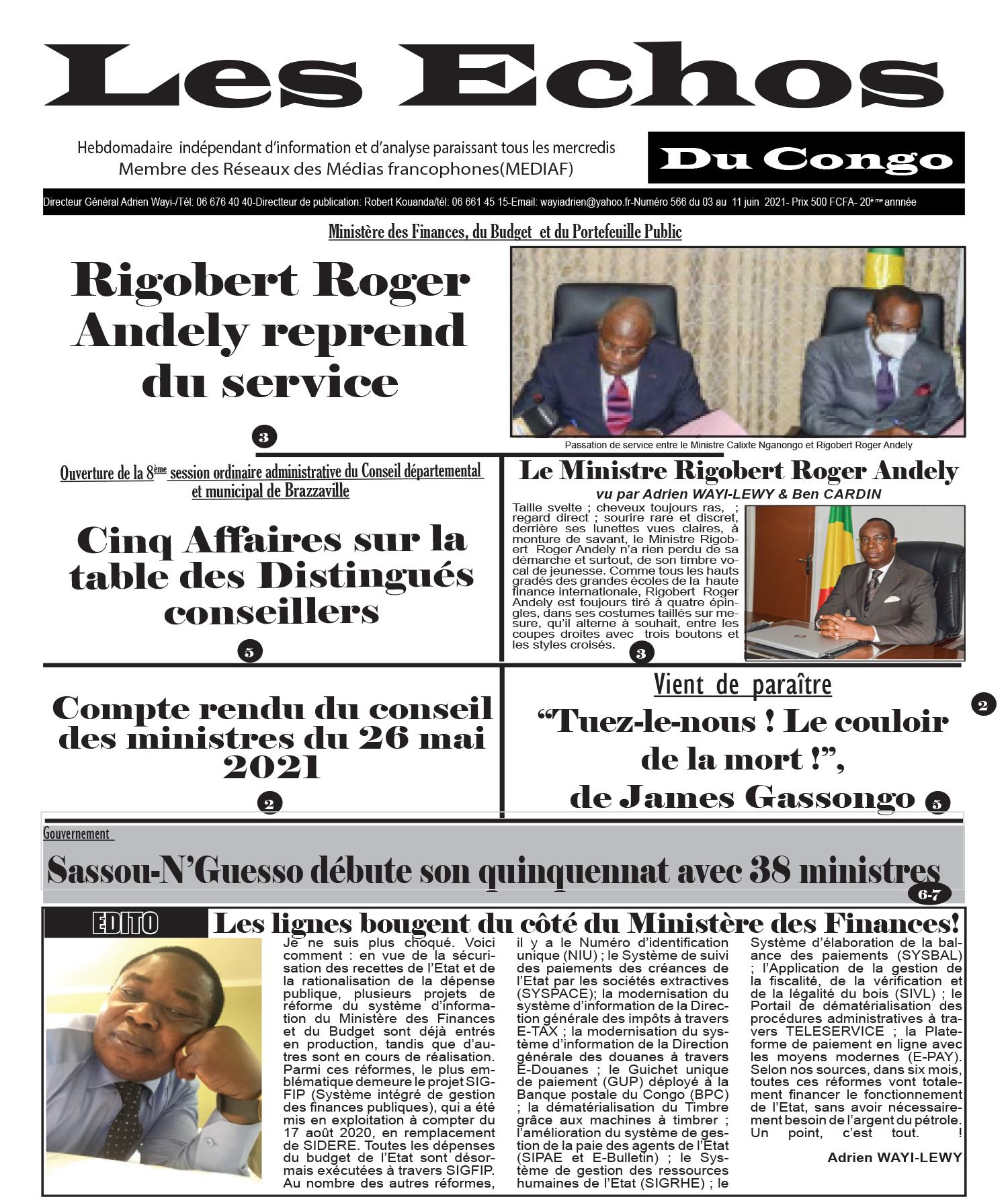 Cover Les Echos - 566