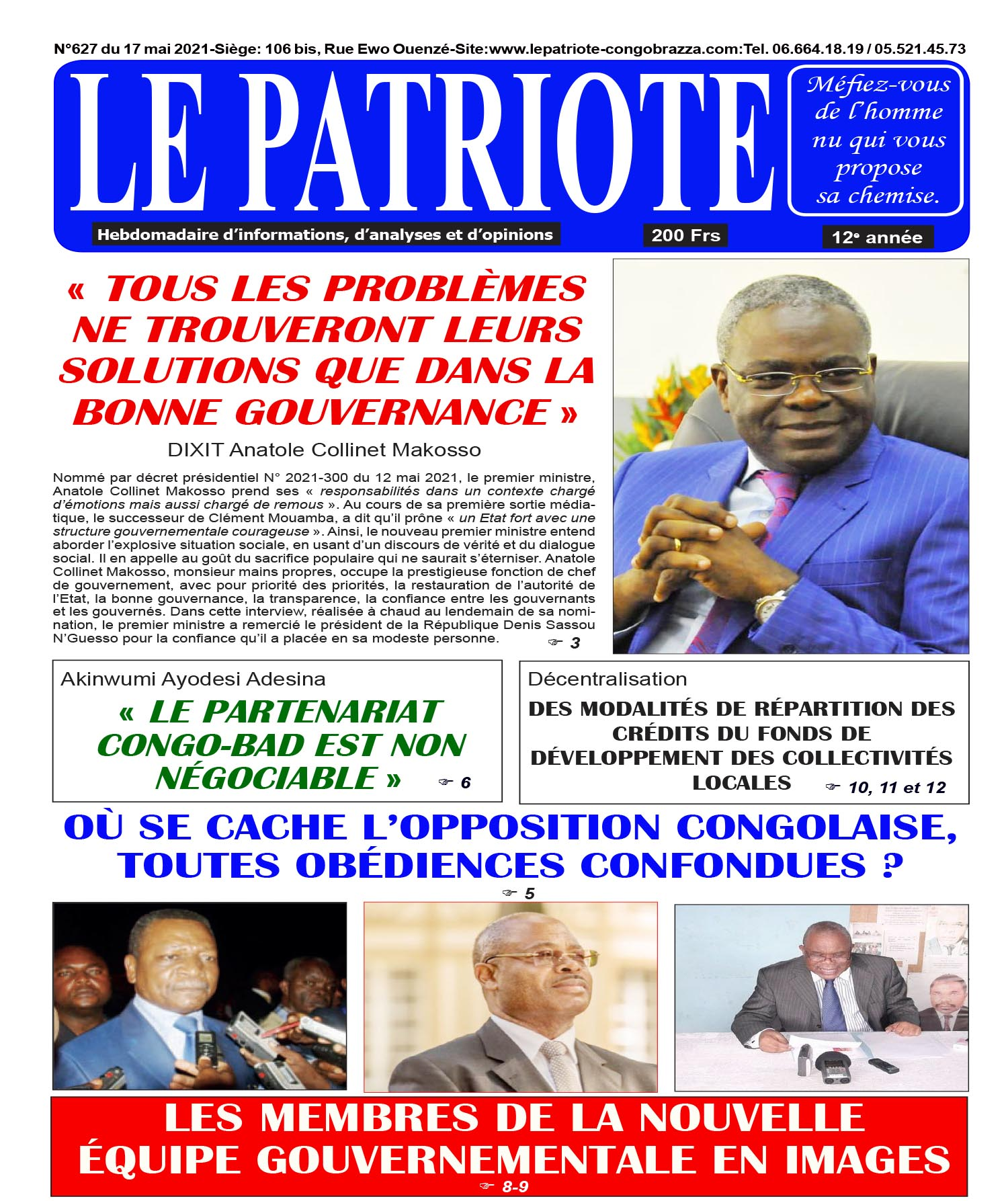 Cover Le Patriote - 627