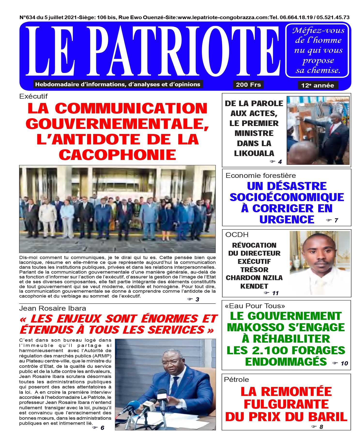 Cover Le Patriote - 634