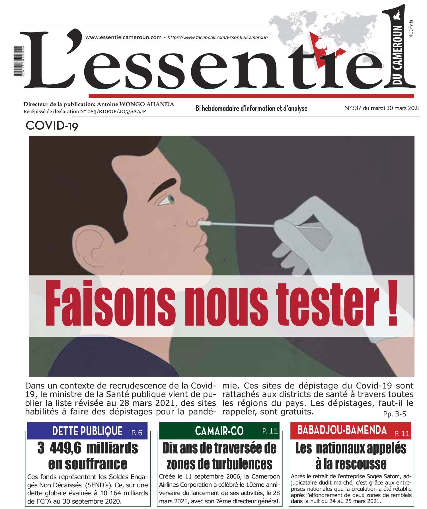 Cover L'Essentiel du Cameroun - 337