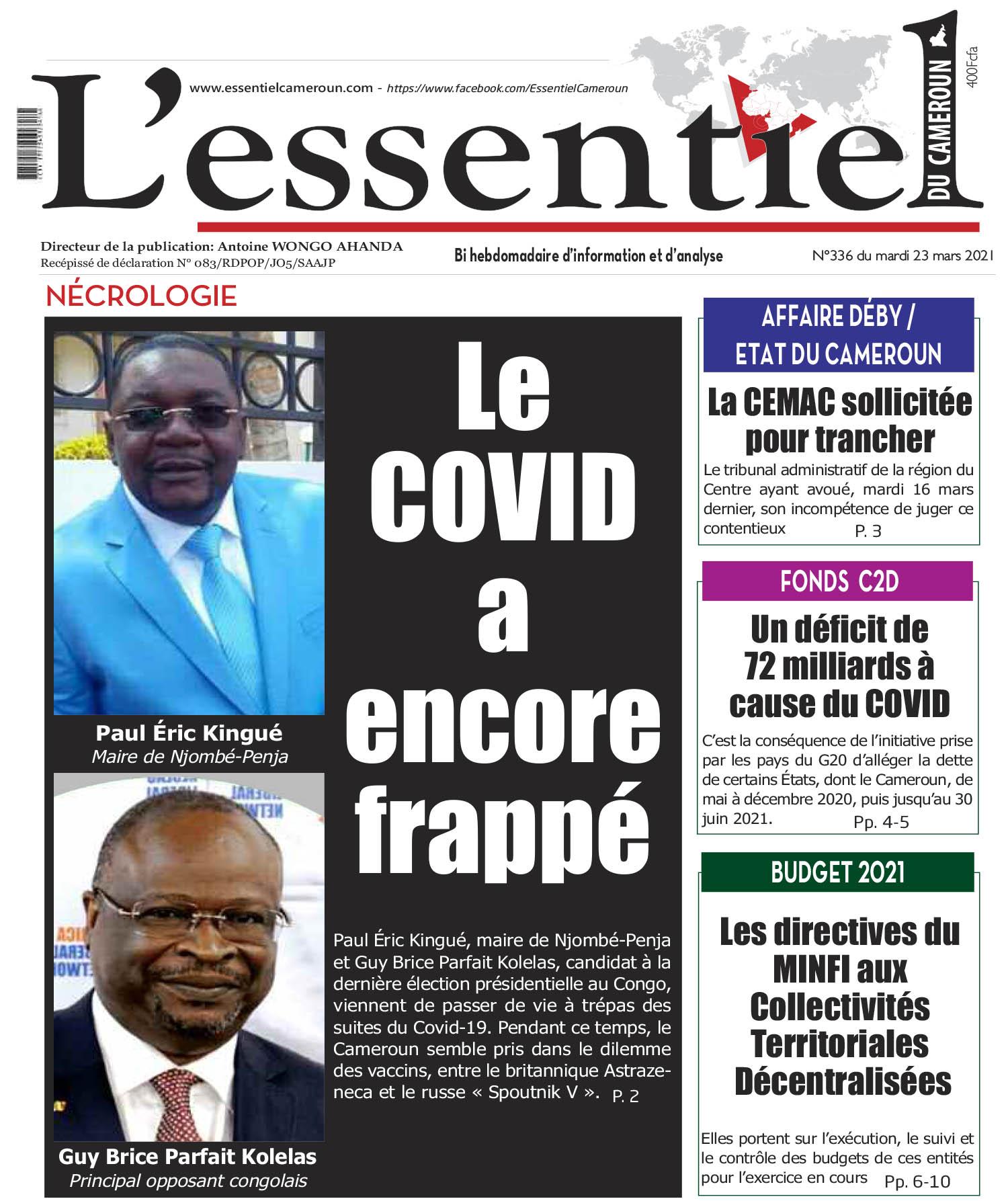 Cover L'Essentiel du Cameroun - 336
