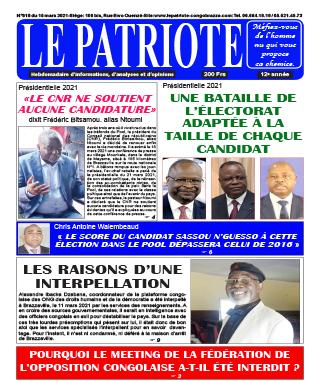 Cover Le Patriote - 618